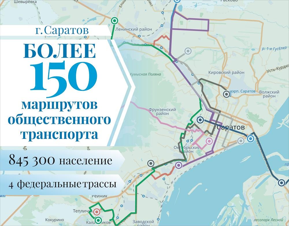Карта города Саратов